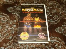 WWF WrestleMania I/1 (VHS, 1985) OOP 1st Coliseum Clam! Hogan/Mr. T *NOT ON DVD*