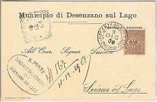Brescia --- ITALIA REGNO:  storia postale - BUSTA / LETTERA : DESENZANO 1908