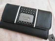 NWT GUESS ARVIN Clutch Wallet Purse Handbag Bag BLACK