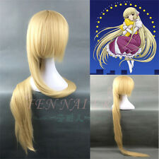 150cm Eruda Chobits Extra Long Straight Blonde Beige Anime Cosplay Party Wigs