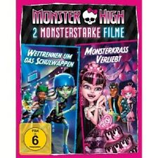 MONSTER HIGH - 2 MONSTERSTARKE FILME  BLU-RAY KINDER TRICKFILM NEU