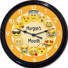 Emoji Emoticon Wall Clock Mood emotion Custom Personalized New 10""