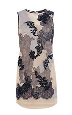 Karen Millen Neutral/Blue Lace Dress. DT091. Size 6. RRP £199.