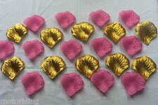 100 x PINK AND GOLD SILK ROSE PETALS CHRISTENING CONFETTI TABLE DECORATION