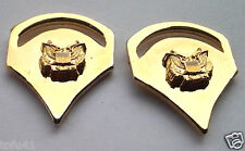 1 PAIR (2) ARMY RANK SPC-5 Military Veteran (GOLD) Collar / Hat Pins P12760 EE