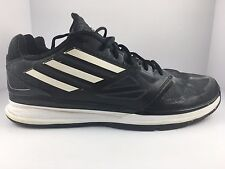 Adidas Pro Smooth LO Black + White Low top Basketball Shoes Size 13 G98337