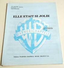 Partition sheet music ALAIN BARRIERE : Elle était si Jolie * 60's Eurovision
