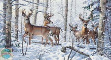 Cross Stitch Kit Gold Collection Snowy Woodland Winter Deer Family #35130