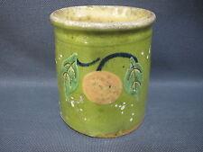 Ancien pot en terre vernissée de Savoie pot à confiture miel french antique
