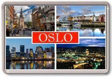 FRIDGE MAGNET - OSLO - Large - Norway TOURIST