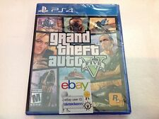 Grand Theft Auto V Sony PlayStation 4 PS4 GTA 5 FIVE Brand New Factory Sealed