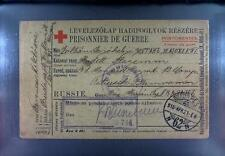 Camp 1916 Hungary to Russia POW Kriegsgefangenenpost Rotes Kreuz Red Cross 261