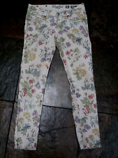 "117 MISS ME Jeans Low-Rise Stretch Floral Denim Ankle Skinny Size 27/28""  EUC"