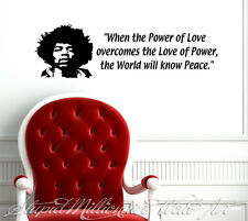 JIMI HENDRIX Wall Decal / Sticker Secret of Peace Quotes hippy album home decor