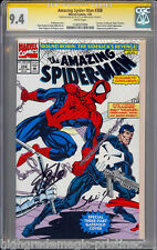AMAZING SPIDER-MAN #358 CGC 9.4 SS SIGNED 2X STAN LEE & MARK BAGLEY #1182937004