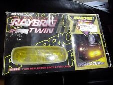 Fog light & spotlamp set, Raybrig, R1000 Twin, yellow, pair, new old stock, JDM