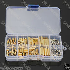 120Pcs M3 Male Female Brass Standoff Spacer PCB Board Hex Screws Nut Assortment