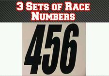 "3 Sets 4"" 100mm  Custom Race Number Vinyl Stickers Decals MX Motocross Bike"