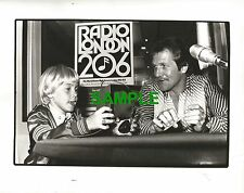 ORIGINAL BBC PUBLICITY PHOTOGRAPH - RICKY SCHRODER WITH BOB KILBY RADIO LONDON