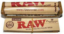 PLASTIC KING SIZE RAW CIGARETTE TOBACCO ROLLING ROLLER MACHINE + PAPERS + TIPS