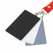 3 in 1 Digital White Black Grey Balance Cards Set 18% Gray Exposure Card LO