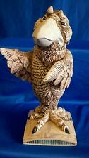 BURSLEM POTTERY ANDREW HULL GROTESQUE BIRD COURT ROOM DEFENDER DECANTER OR FLASK
