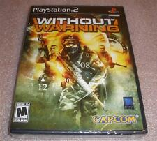 Ps2 Without Warning video game Factory Sealed