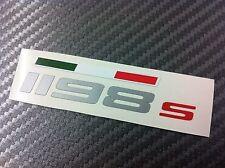 1 Adesivo Stickers DUCATI 1198s fianchetto serbatoio con bandiera tricolore
