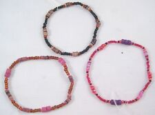 12 New Wholesale Closeout Glass Bead Puka Shell Stretch Bracelets #B1135