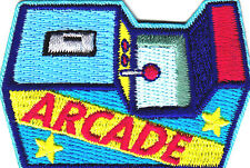 """""""ARCADE"""" -  Iron On Embroidered Patch- Sports, Words, Games, Compete"""