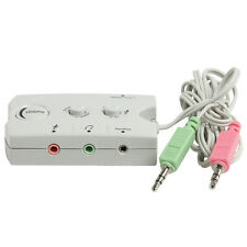 3.5mm Headphone/Headset & Speaker Audio Switch - Microphone Input/Volume Control
