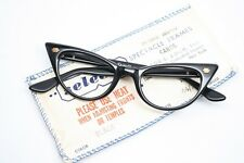 Small Black Pointy Cat Eye Glasses Unused 1950's Eyeglasses NOS Frames