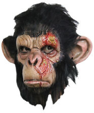 HALLOWEEN ADULT INFECTED CHIMP GORILLA MONKEY APE MASK PROP