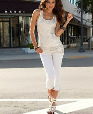 NEU MUSTHAVE CITY LIFESTYLE! SCHLANKE 3/4 CAPRIHOSE weiss 46 LAURA SCOTT *686554