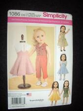 "Simplicity 1086 Pattern 18"" Doll Clothes Fits American Girl 1950's Look"