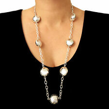 Large Taxco 925 Sterling Silver Ball Bead Long Chain Necklace