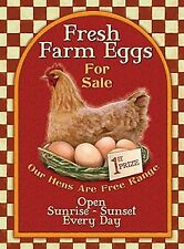 Fresh Farm Eggs For Sale large steel sign  400mm x 300mm  (og)
