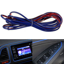 5M Point Blue Edge Gap Line Molding Accessory For Universal Car Interior Garnish