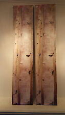 """TWO BIRCH/ASPEN TREES PRINTED ON CANVAS 8""""X39"""" WALL HANGINGS"""