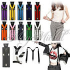 17 Colors Braces Suspenders Adjustable Unisex Neon UV Dress & Plain Y Back O