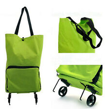Folding Foldable Shopping Trolley Bag Cart Rolling Wheel Grocery Tote Handbag SP