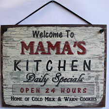 Mama s Kitchen Sign Food Cooking Bake Mom Mother Cookies Family Cute Wall Decor