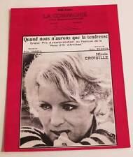 Partition vintage sheet music NICOLE CROISILLE : Quand nous n'aurons que * 60's