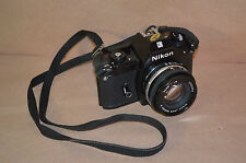NIKON EM 35mm SLR FILM CAMERA WITH LENSE CASE #1566