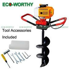 "2.2HP Gas Powered Post Hole Digger W/ 8"" Earth Auger Drill Bit 52CC Power Engine"