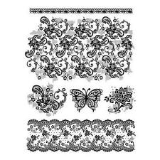 Viva Decor Clear Silicone Stamps - Vintage Lace #18