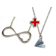 speciale offerta due collane collana infinito e aereoplano one direction
