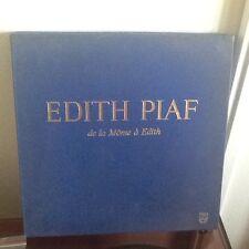 EDITH PIAF - DE LA MÔME A EDITH-COFFRET 4 LP 33