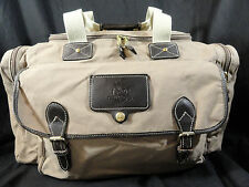 """Vtg Eddie Bauer Ford Canvas Leather Duffle Travel Bag Carry On Luggage 19"""" USA"""