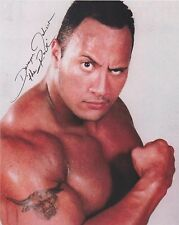 """Dwayne Johnson """"The Rock"""" WWE Fast & Furious EXTREMELY RARE SIGNED RP 8x10 WOW!!"""